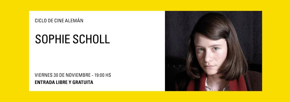 Ciclo de Cine Alemán Sophie Scholl